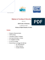 IDM Course Content