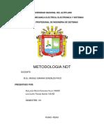 Universidad Nacional Del Altiplano Metodologia de Ndt