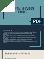 emotional behavioral disorder