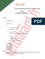 BAC STL 2018 corrigé maths spécialité biotechnologie