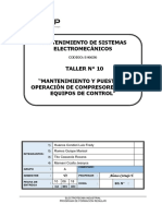 1.T 10 Mantenimiento y Puesta en Operación de Compresores y Sus Equipos de Control