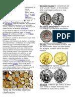 Moneda y Tipos