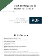El Test de Factor G de Cattell – Escala 2. Forma A