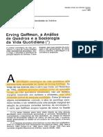 NUNES, João Arriscado. Erving Goffman, a Analise de Quadros e a Sociologia da Vida Quotidiana.pdf