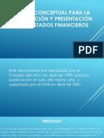 Marco Conceptual Para La Preparación y Presentación de Estados Financieros