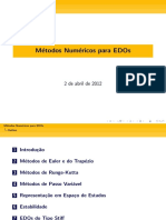 Métodos numericos para EDOs