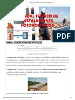 Manual de Instalaciones Fotovoltaicos _