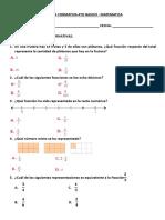 Formativa Matematica 4to Basico - Fracciones - Decimales