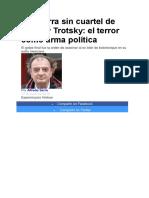 La Guerra Sin Cuartel de Stalin y Trotsky