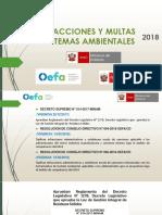 Infracciones y Multas Por Temas Ambientales 2018 - Oefa - Produce - Minam - Rrss