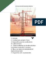 Partes de Una Torre de Transmision Electrica