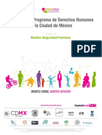 Derecho al Agua y al Saneamiento PDHCDMX 2016