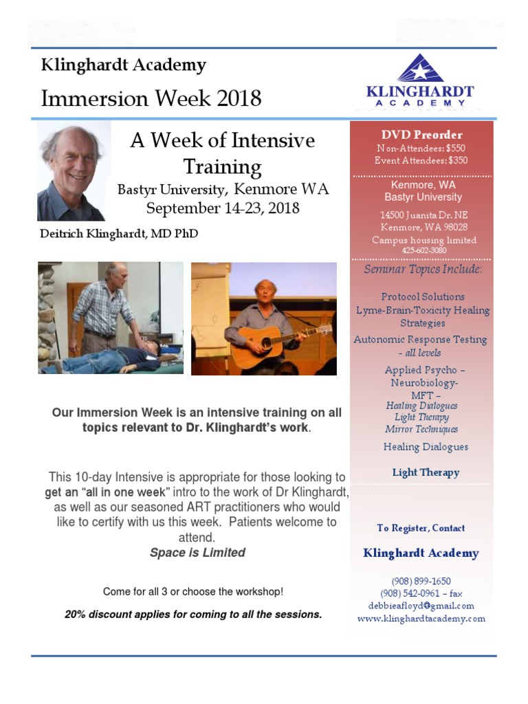 2018 Immersion Week Flier from | Business