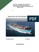 Proiect Serviciile de Transport