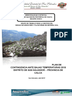 Plan de Contingencia Ante Bajas Temperaturas