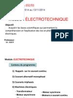 Electrotechnique TCA 2DD
