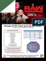 WWE RAW Group Flyer 9e984bb3cd