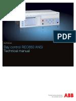 1MRK511287-UUS a en Technical Manual Bay Control REC650 1.3 ANSI