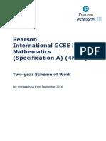 IGCSE Mathematics a SoW