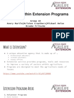 funding within extension programs  1