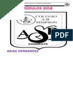 Carátula Del Fólder de Modulos de La Docente 2018