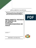 REGLAMENTO TECNICO DE DISEÑO DE PLANTAS POTABILIZADORAS DE AGUA.pdf