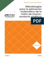 Metodologías para la estimación matemática de la matriz de insumo-producto simétrica