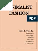 Minimalist Fashion Subculture