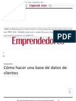 5. Cómo Hacer Una Base de Datos de Clientes - Gestión - Emprendedores - Webs