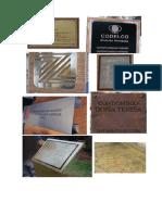 Placas Metálicas y Corte de Material