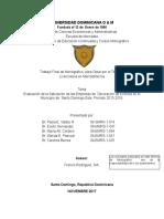 Evaluación de La Saturación de Las Empresas de Decoración de Eventos en El Municipio de Santo Domingo Este, Período 2015-2016 PDF