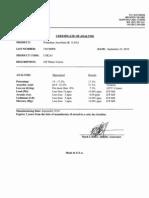 Potassium Ascorbate CofA