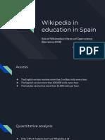 Role of Wikimedia in the Era of Open Science - Wikipedia in Education in Spain