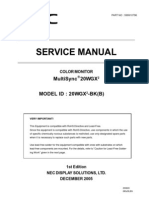 SERVICE MANUAL COLOR MONITOR NEC MultiSync 20WGX2 MODEL ID