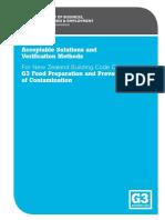 g3 Food Preparation Prevention Contamination 1st Edition Amendment2