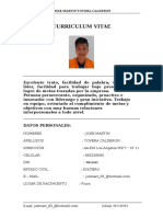 Curriculum Martin Yovera