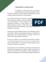 Monografia La Participación y El Control Social