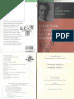 Cap. 2_4_9 e 10 - Estrutura e Função Na Sociedade Primitiva