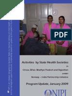 Activities by State Health Societies in Orissa, Bihar, Madhya Pradesh and Rajasthan Under NIPI- Jan 2009-495
