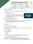 Grand Case Presentation Guidelines