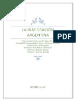 Monografia Inmigracion Argentina