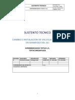 Sustento Tecnico-cambio de Alivio Totus