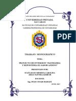 PROYECTO DE INVERSION PASTELERIA Y REPOSTERIA EL SABOR ANDINO.doc