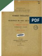 MIFAO 57.4 - Foucart, George - Tombes thébaines Nécropole de Dirâ Abû'N-Naga Le tombeau d'Amonmos (1935) LR