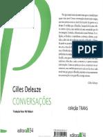 [DELEUZE, G.] Conversacoes 1972 1990