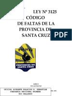 Original Ley Nº 3125 Nuevo Cod. de Faltas