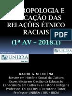 (1) Estética - Antropologia e Educação Das Relações Étnico Raciais (SLIDES 1)
