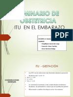 Itu - Cistitis en El Embarazo
