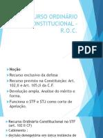 RECURSO ORDINÁRIO CONSTITUCIONAL – ppt.pptx