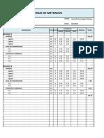 Planilla de Metrados Estructuras y Arquitectura 40436
